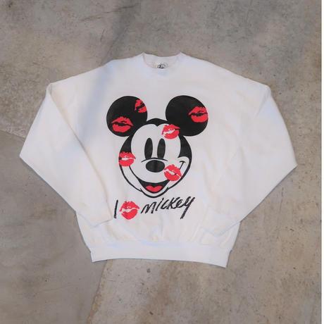 90's Mickey Kiss Sweat Shirt