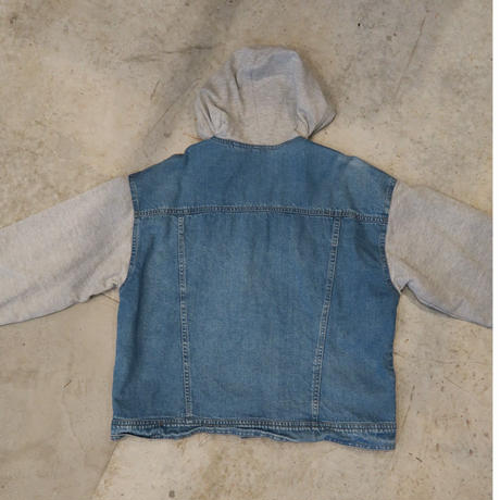 80's~90's Denim × Sweat Design Jacket Unisex
