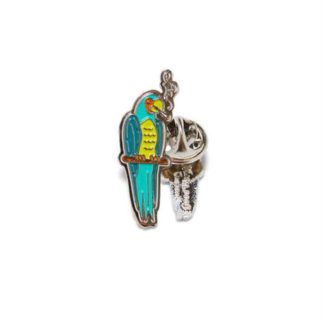Smoking Parrot Pin