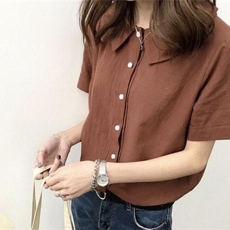 【一部即配】襟付き半袖シャツ