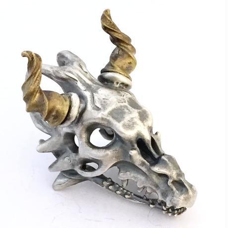 【即納可能!】スカルドラゴン頭骨(ペンダントトップ)[林檎屋]