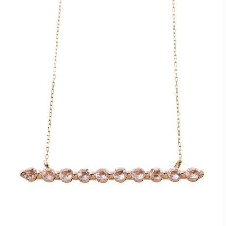 10金ホライゾンネックレス(天然ホワイトトパーズ)[Elenore Jewelry ]