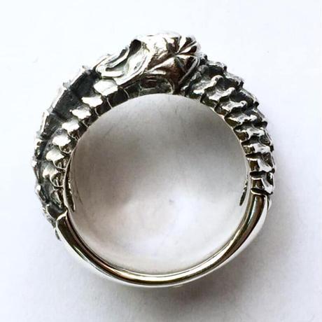 【即納可能サイズ#20号】ガーディアンリング~蛇とスカルの指輪~[SKURANGER]
