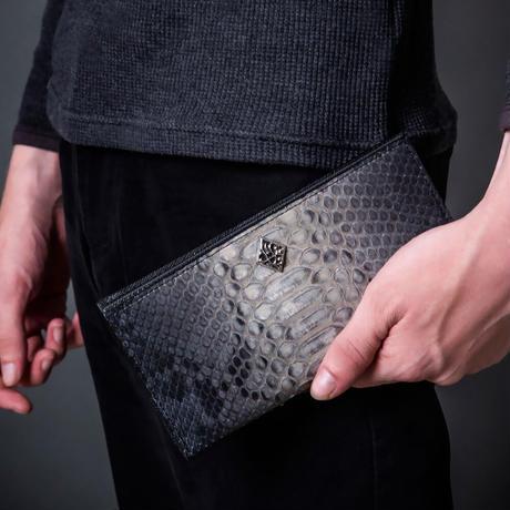 【新作!先行予約受付中!】グレーパイソンロングウォレット~Gray python long wallet~[Artemis Classic]