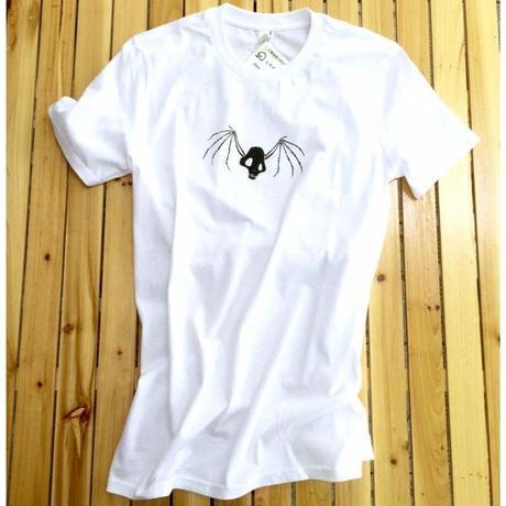 『蛇骨堂オリジナル』 輪舞ドクロTシャツ黒/白