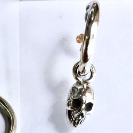 【即納可能!】Skull Charm Pierce