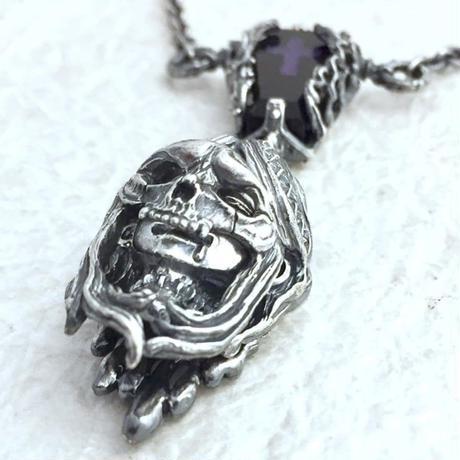 """【即納可能!紫】  witch-hunt""""skull face""""(ウィッチハント""""スカルフェイス"""")ペンダント"""