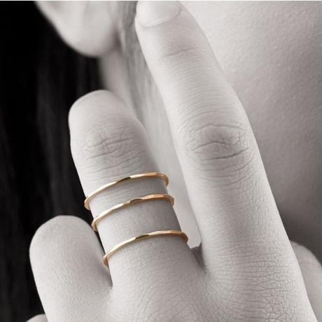 【#11号即納可能】トリプルリング[Elenore Jewelry]
