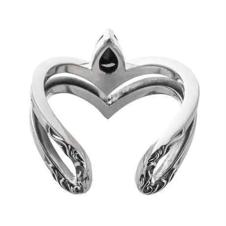 【即納可能!】ティアドロップVリングBK ~Teardrop V ring BK ~[Artemis Kings]