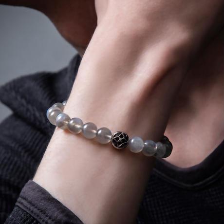 【即納可能!】トレサリーラブラドライト数珠ブレス[Artemis Classic]