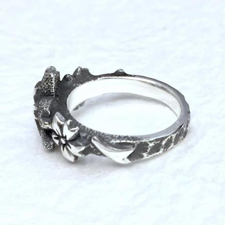 🌸春限定!桜のアクセサリー🌸桜の指輪[銀燭]