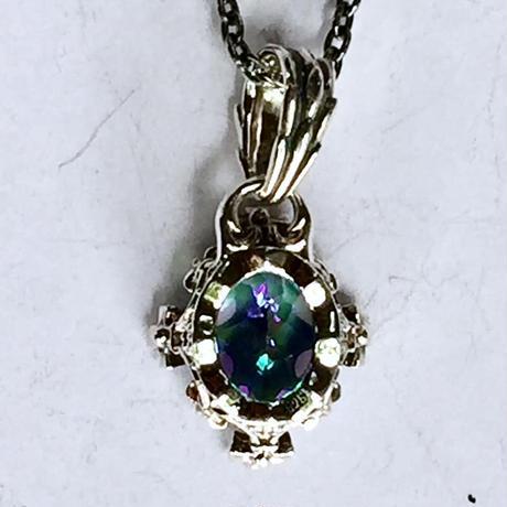 【即納可能!】オーバルクラウンペンダント ミスティックトパーズ~Oval crown pendant Mystic Topaz~[Artemis Kings]
