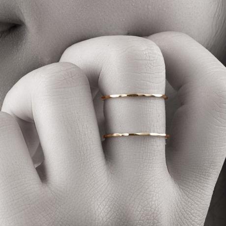 【#13号即納可能!】ダブルリング[Elenore Jewelry]