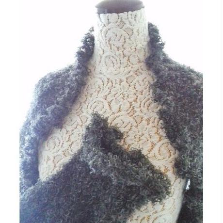 ウールのマーガレット(チャコールグレー)