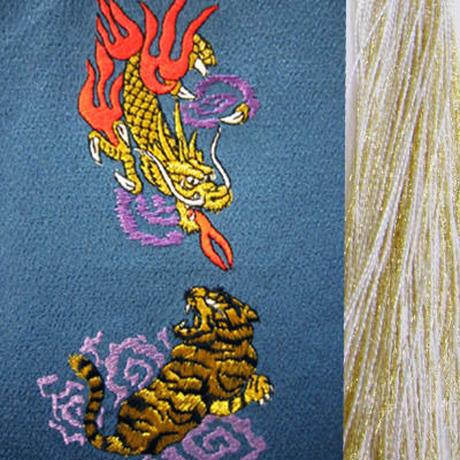 虎と火龍・金×白房・長さ105cm