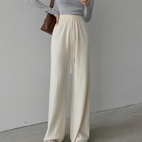 【即納】casual nit pants/Ivory