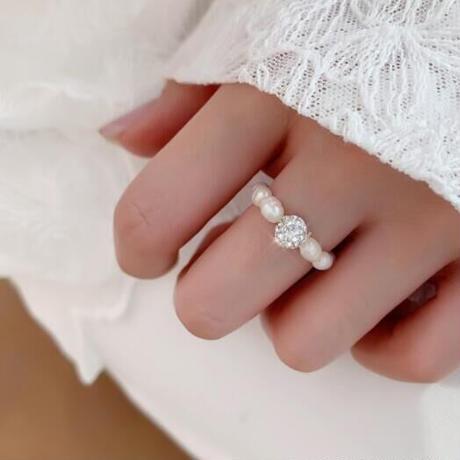 【即納】ow Pearl ring