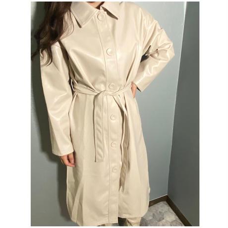 Faux leather long Jacket