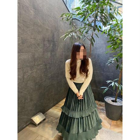 【即納】Velvet Tiered skirt