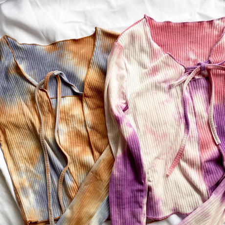 【即納】Tie dye summer kmit set