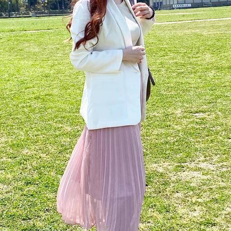 【即納】pastel Pleats skirt/pink,mint