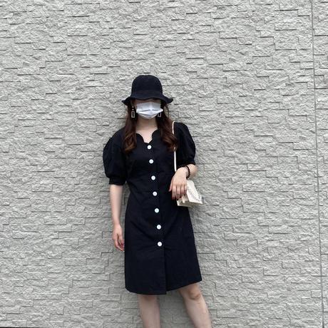 【即納】Girly puff sleeve onepiece