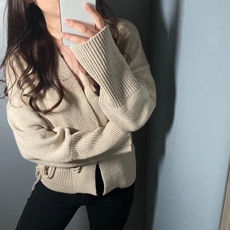2way Lace up cardigan
