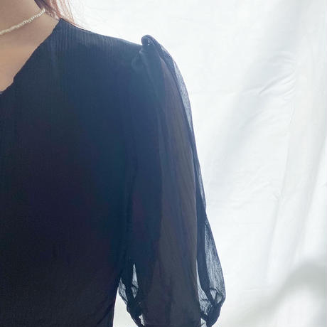 【即納】Aline Tulle onepiece/black,white