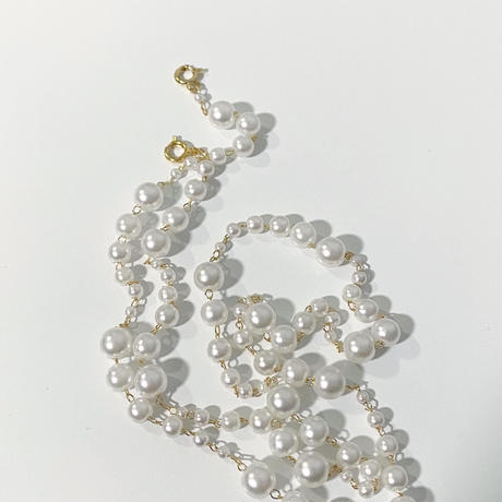 【即納】Pearl mask necklace