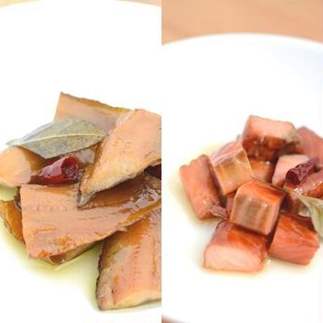 アヒージョ食べ比べ  2種