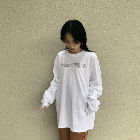 Sid Tee(long sleeve)