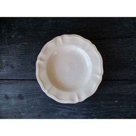 フランス製 サルグミンヌ 花リムのデザート皿(C)