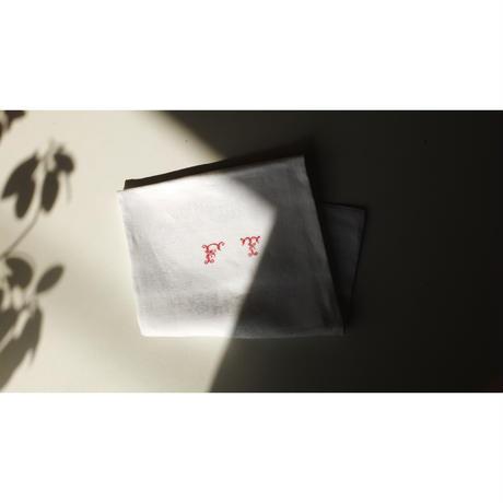 "French linen cloth ( Monogram""FT"")"