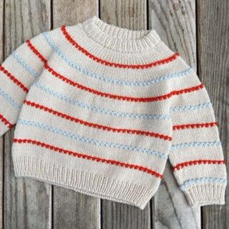 [K2tog] 翻訳編図付キット K21-063 Festival Sweater (6-10歳)