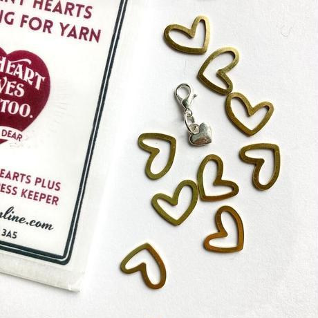 [FireflyNotes] Stitch Marker Brass Hearts