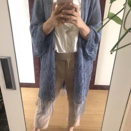 [K2tog] 翻訳編図付キット K19-006 Fringed Kimono (L-2L size)