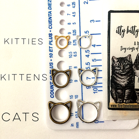 [FireflyNotes] Stitch Markers  - itty bitty kitties