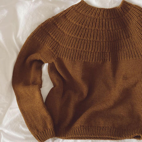 [K2tog] 翻訳編図付キット K21-028 Ankers Sweater - My Size (S-M size)
