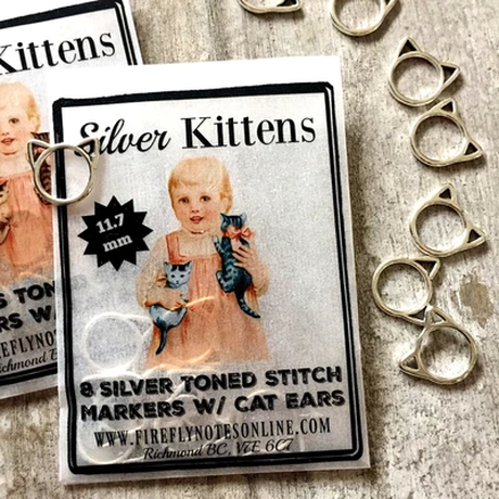 [FireflyNotes] Stitch Markers  - 11.7mm Kittens