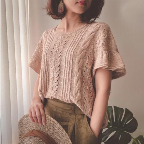 [K2tog] 翻訳編図付キット K21-036 Faye Summer Top (size 1)