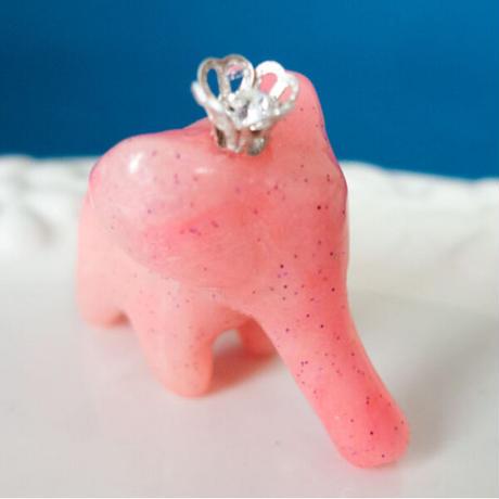 【 おうぞくの こぞう 】ちいさな象の置物 イエロー/ブルー/ピンク/グリーン