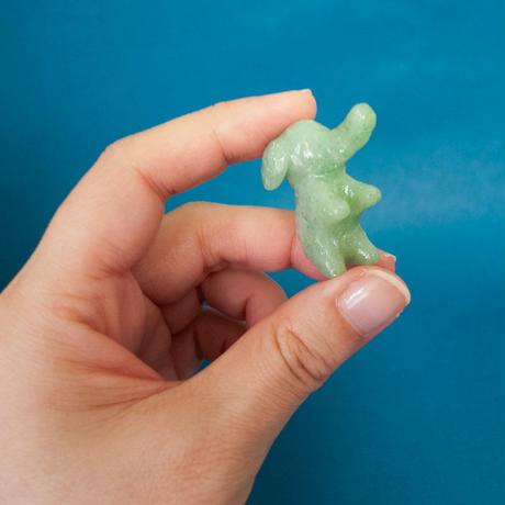 【 ただの こぞう 】ちいさな象の置物 グリーン/ピンク/ブルー