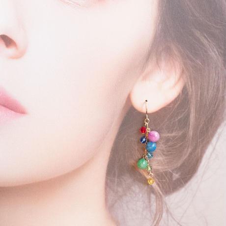 【 イルミネーション  】かわいい玉色のピアス