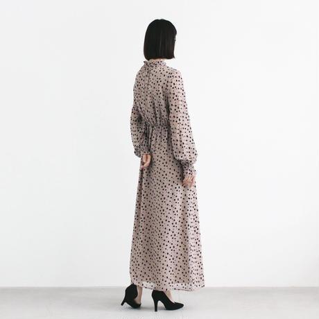100597 / レオパード×ドットマキシワンピース