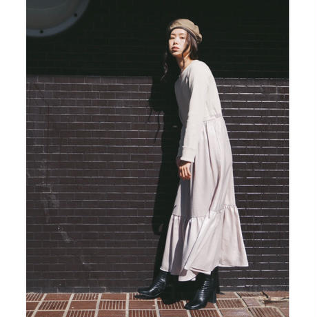 【予約商品】100665 / 配色ドッキングワンピース