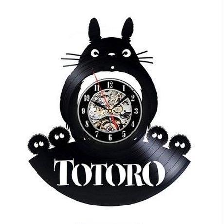 輸入雑貨 トトロ 30cm レコード盤 壁掛け時計 アニメ 映画 人気  インテリア ディスプレイ 10
