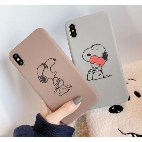 輸入雑貨 スヌーピー ケータイケース snoopy ケータイカバー  iphone XR XsMAX 最大種類 iphone 8 7 6 6 s-plus スモークカラー
