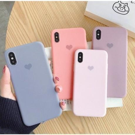 キャンディーカラー♡ シンプル ハート ♡  iphone XR ケース 最大種類 iphone 8 7 6 6 s-plus スマホケース  4colors