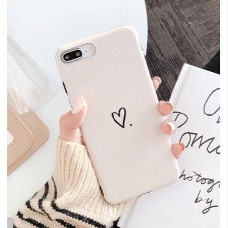 新色♡ シンプル ハート ♡  iphone XR ケース 最大種類 iphone 8 7 6 6 s-plus スマホケース  ホワイトベージュ