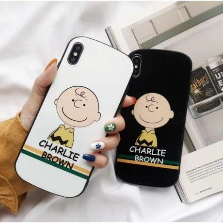 輸入雑貨 チャーリーブラウン snoopy ケータイカバー  iphone XR XsMAX 最大種類 iphone 8 7 6 6 s-plus  オセロカラー